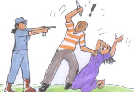 "If a person's life is in danger, the police may ""shoot to kill"" in order to carry out an arrest."